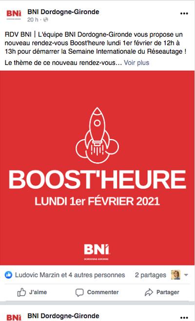 Page Facebook BNI Dordogne Gironde - Adékoi communication Périgueux