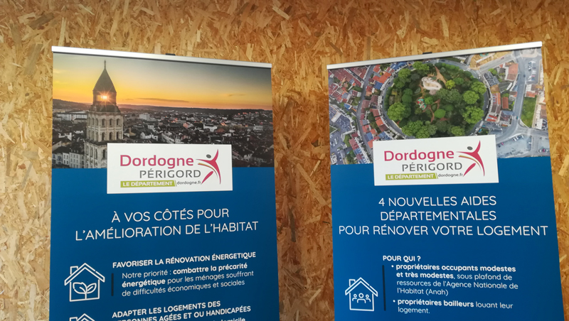 Roll up conseil départemental Dordogne Service habitat - Adékoi communication