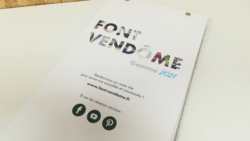 Echantillonneur selleries 2021 Font Vendome - Adékoi communication Périgueux