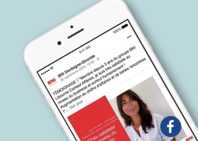 Animation Réseaux sociaux Facebook BNI Dordogne-Gironde