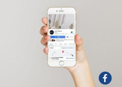 Animation Réseaux sociaux Facebook Lynx optique