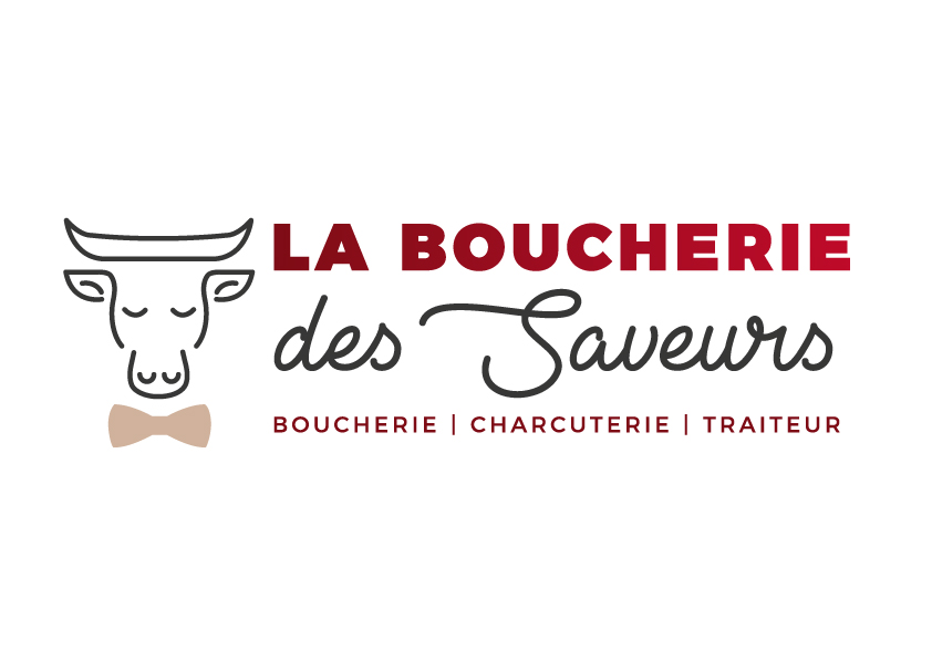 Création logo Boucherie des saveurs - Adékoi communication