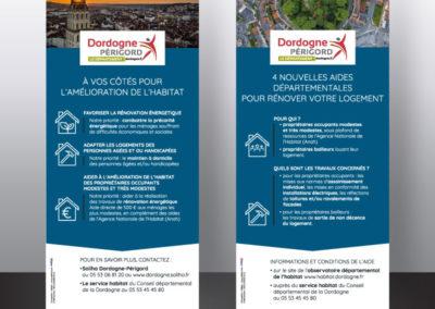 Création Stand Affiche Roll up Conseil Départemental 24 service habitat