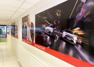 Création signalétique intérieure Edenauto Toyota Périgueux