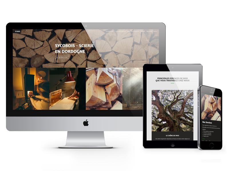 Site internet Sycobois scierie dordogne - Adékoi communication