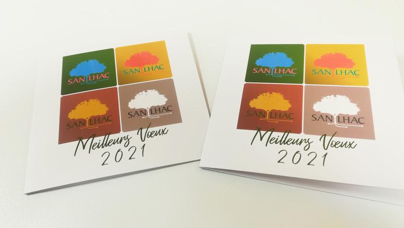 Carte de voeux 2020 Mairie de Sanilhac - Adékoi communication