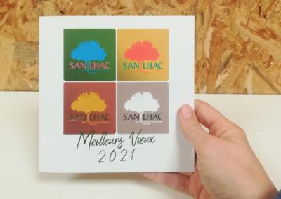 Création Carte de vœux 2020 Mairie de Sanilhac