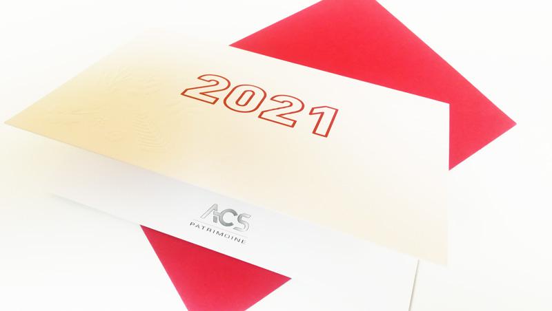 Carte de vœux ACS 2020 - Adékoi communication Dordogne