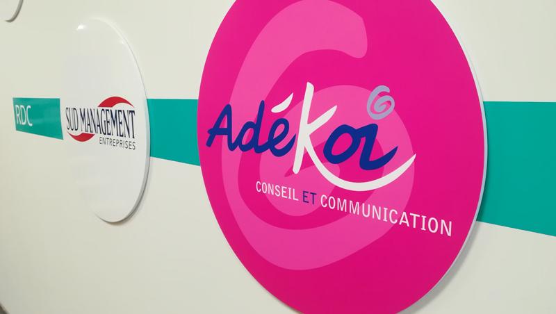 Signalétique Le Carré des Pros - Adékoi communication