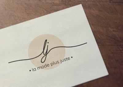Création logo La mode plus juste