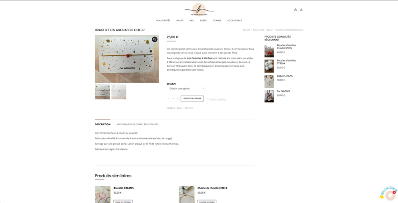 Site internet e-commerce La mode plus juste - Adékoi communcation