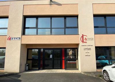 Création habillage façade L & C expertise