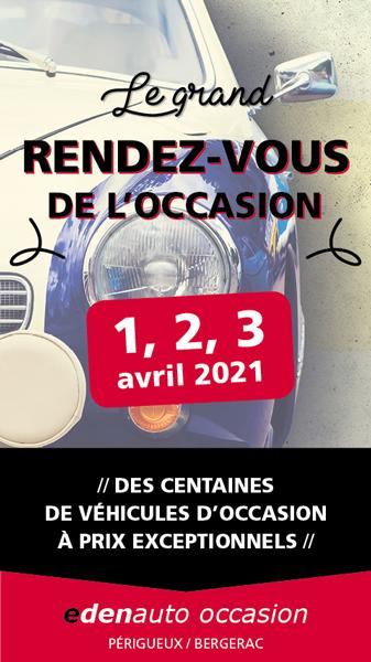 Campagne de communication Le grand rendez-vous de l'occasion edenauto - Adékoi Périgueux