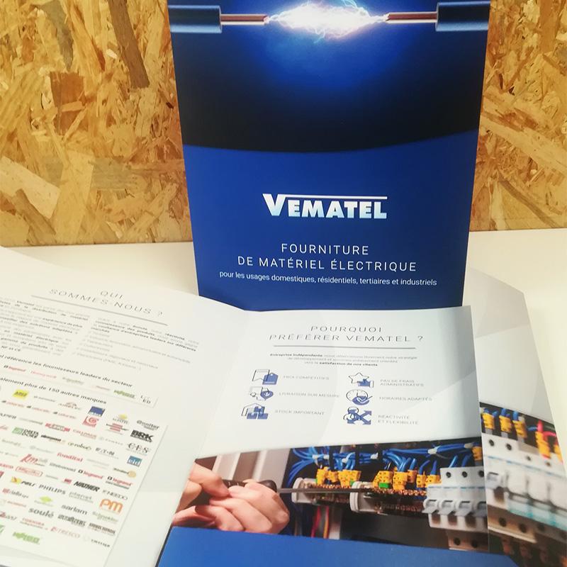 Chemise Vematel matériel électrique - Adékoi communication Dordogne