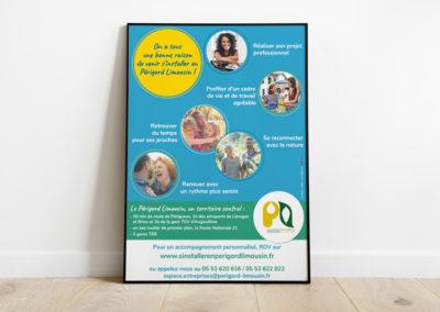 Création Flyer et Affiche tourisme pour la Communauté de communes Périgord-Limousin