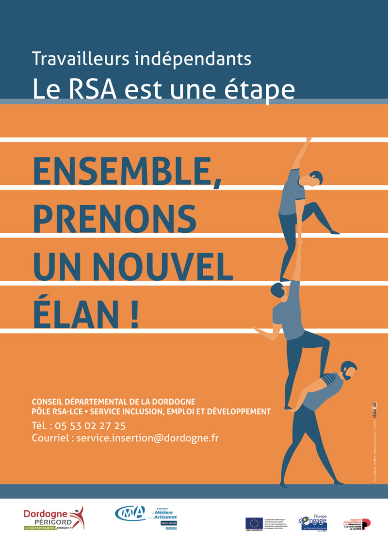 Affiche Flyer campagne Rebondir CMA 24 - Adékoi communication