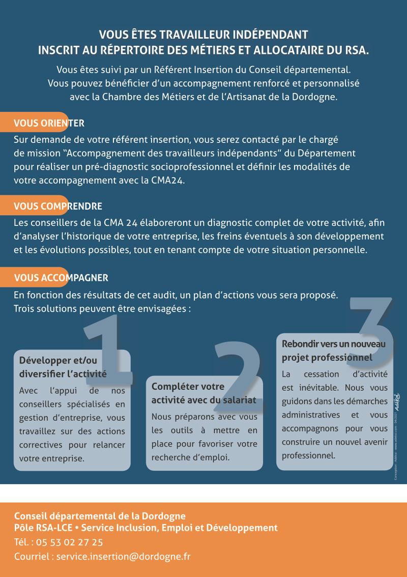 Flyer campagne Rebondir CMA 24 - Adékoi communication