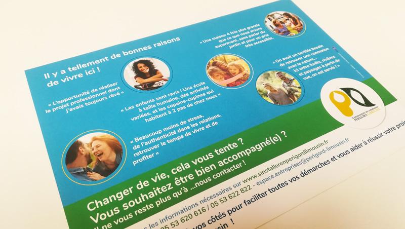 Flyer tourisme communauté de communes Périgord Limousin - Adékoi communication