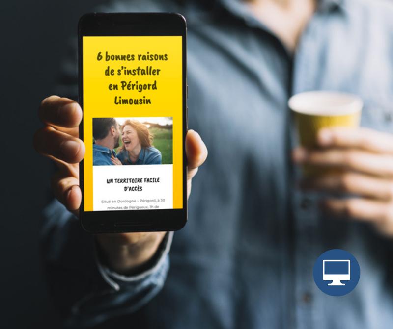 Création Page internet – Communauté de communes Périgord-Limousin