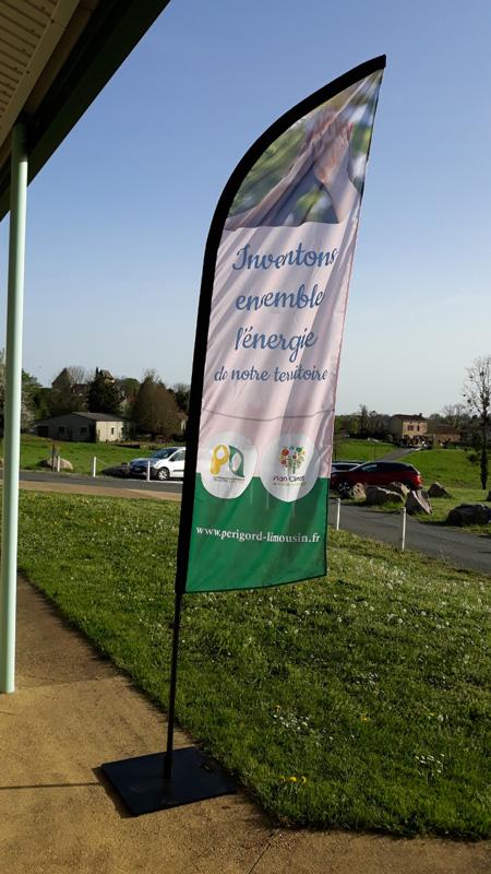 Flybanner Plan Climat communauté de communes Périgord Limousin - Adékoi communication