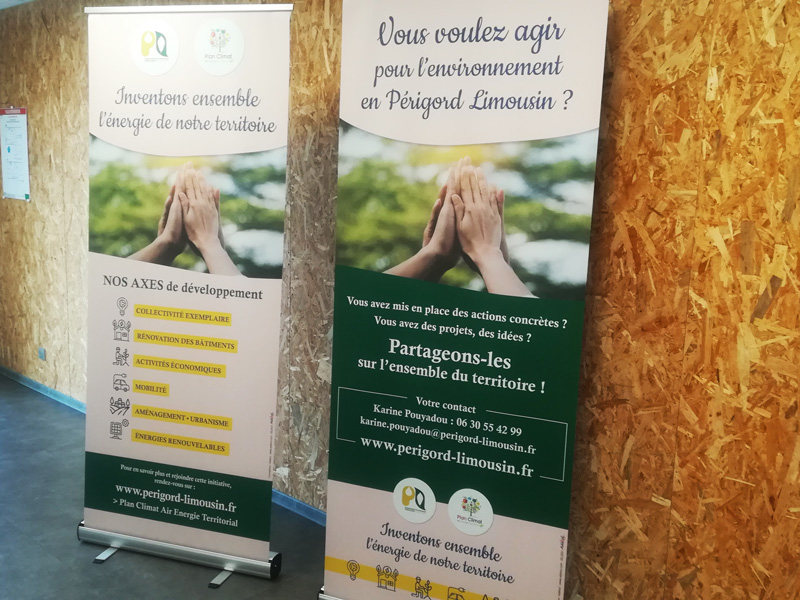 Roll up Plan Climat communauté de communes Périgord Limousin - Adékoi communication