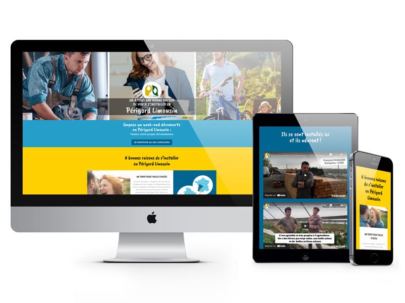 Page web tourisme communauté de communes Périgord Limousin - Adékoi communication