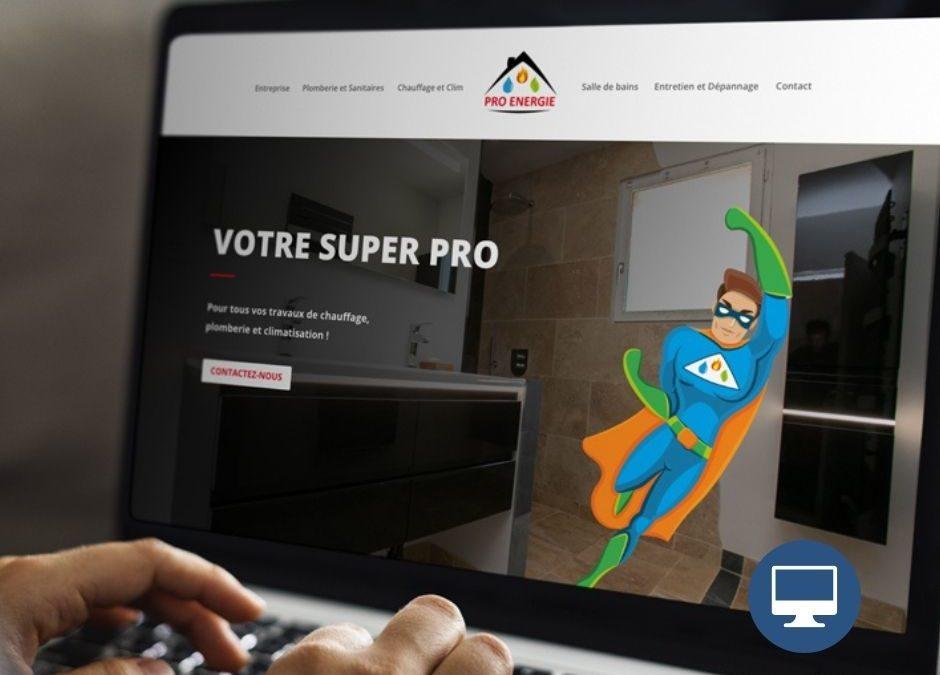 Création site internet : Pro énergie – Plomberie chauffage salle de bains