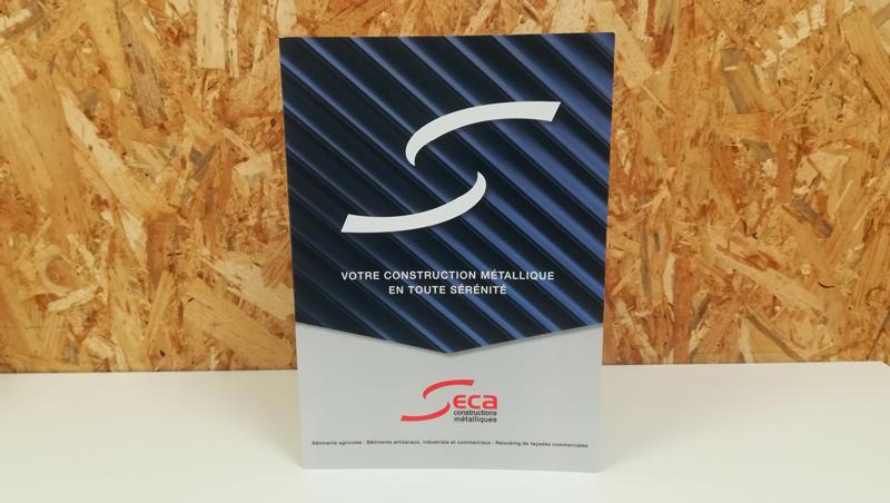 Seca constructions métalliques plaquette professionnelles - Adékoi communication Périgueux