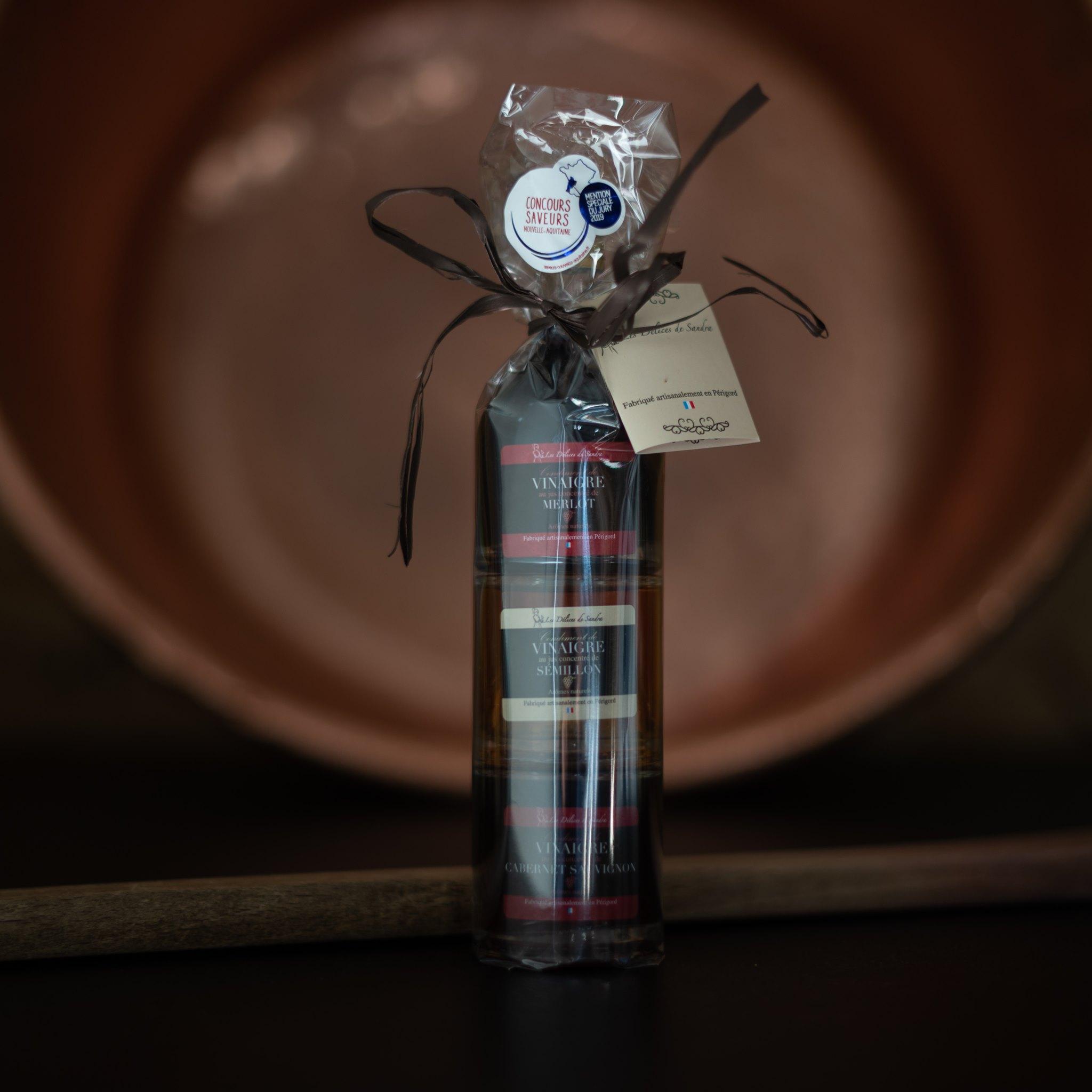 Création packaging vinaigres de vin Les Délices de Sandra - Adékoi communication Périgueux