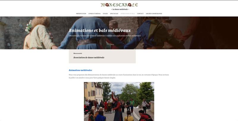 Création site web Morescarole - association de danse médiévale - Adékoi communication