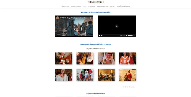 Création site web Morescarole - association de danse médiévale - Adékoi communicationa