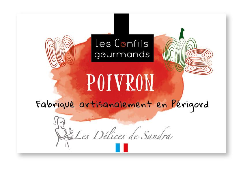 Création packaging Les Délices de Sandra confitures fruits - Adékoi communication Périgueux